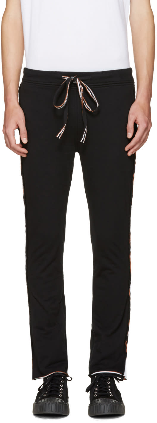Image of Telfar Black Layered Lounge Pants