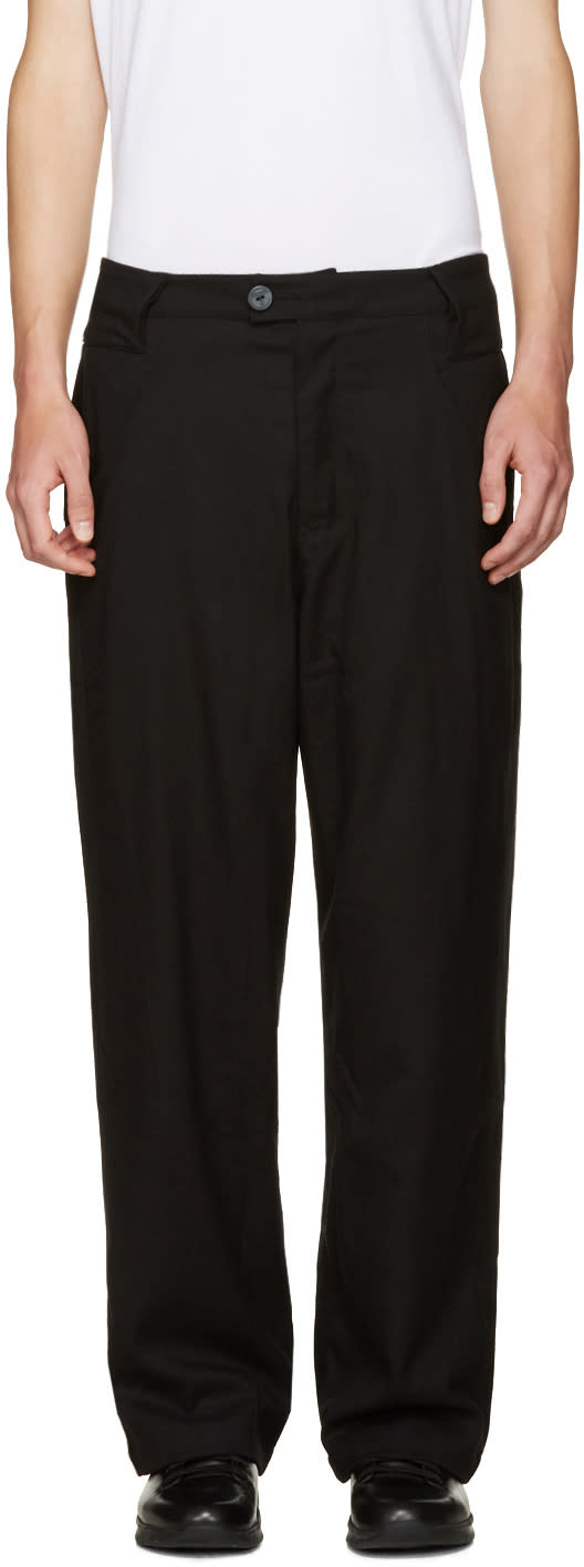 Telfar Black Double Jersey Trousers