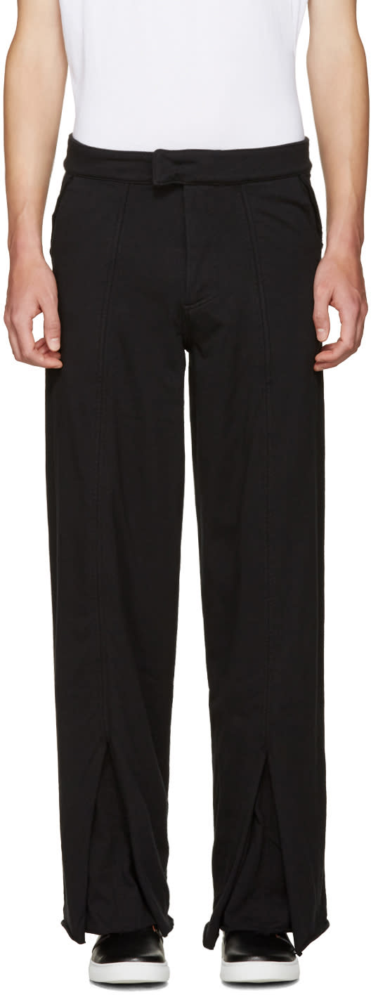 Image of Telfar Black Double Jersey Trousers