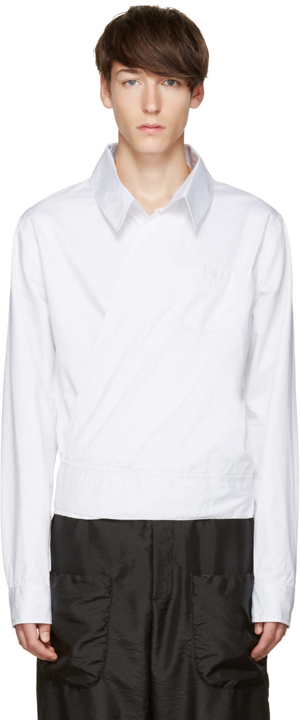 Telfar White Wrap Shirt