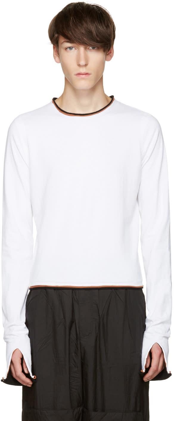 Telfar White Ringer T-shirt