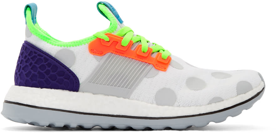 Adidas X Kolor White Pure Boost Zg Sneakers