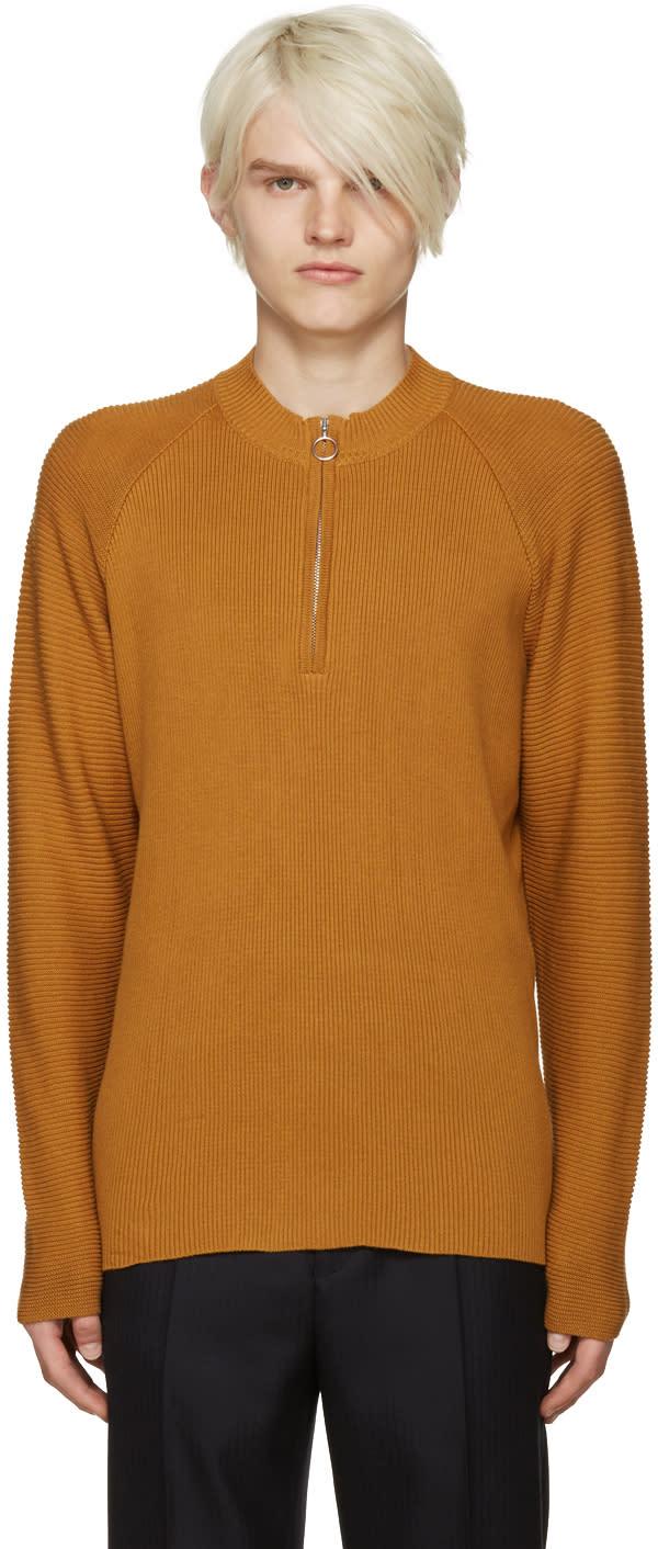 Cmmn Swdn Yellow Ivor Half-zip Pullover