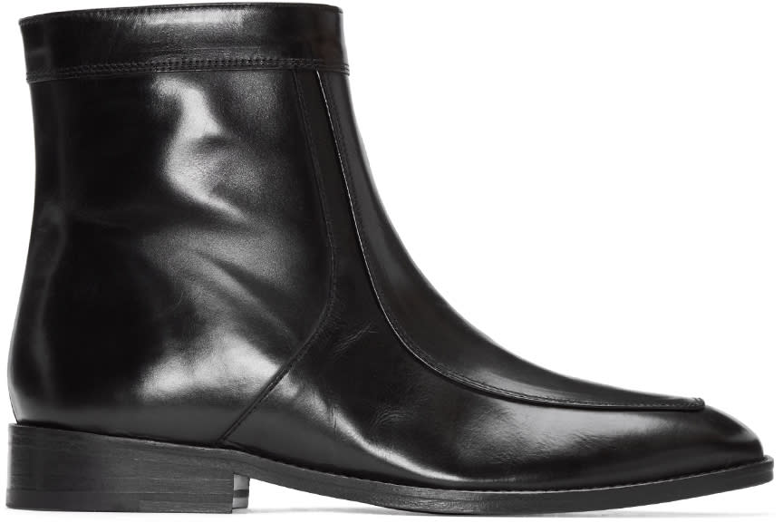 Cmmn Swdn Black Leather Bruno Boots