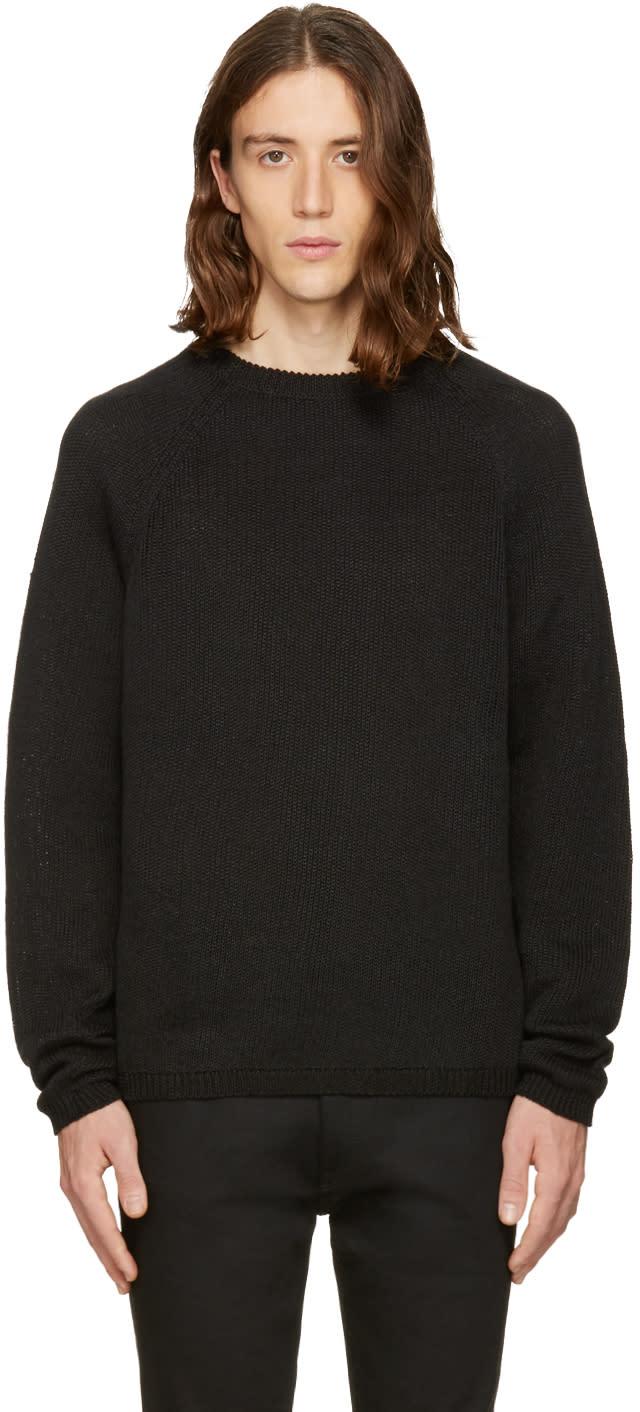 Fanmail Black Linen Sweater
