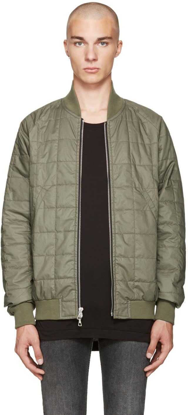 John Elliott Green Quentin Flight Jacket