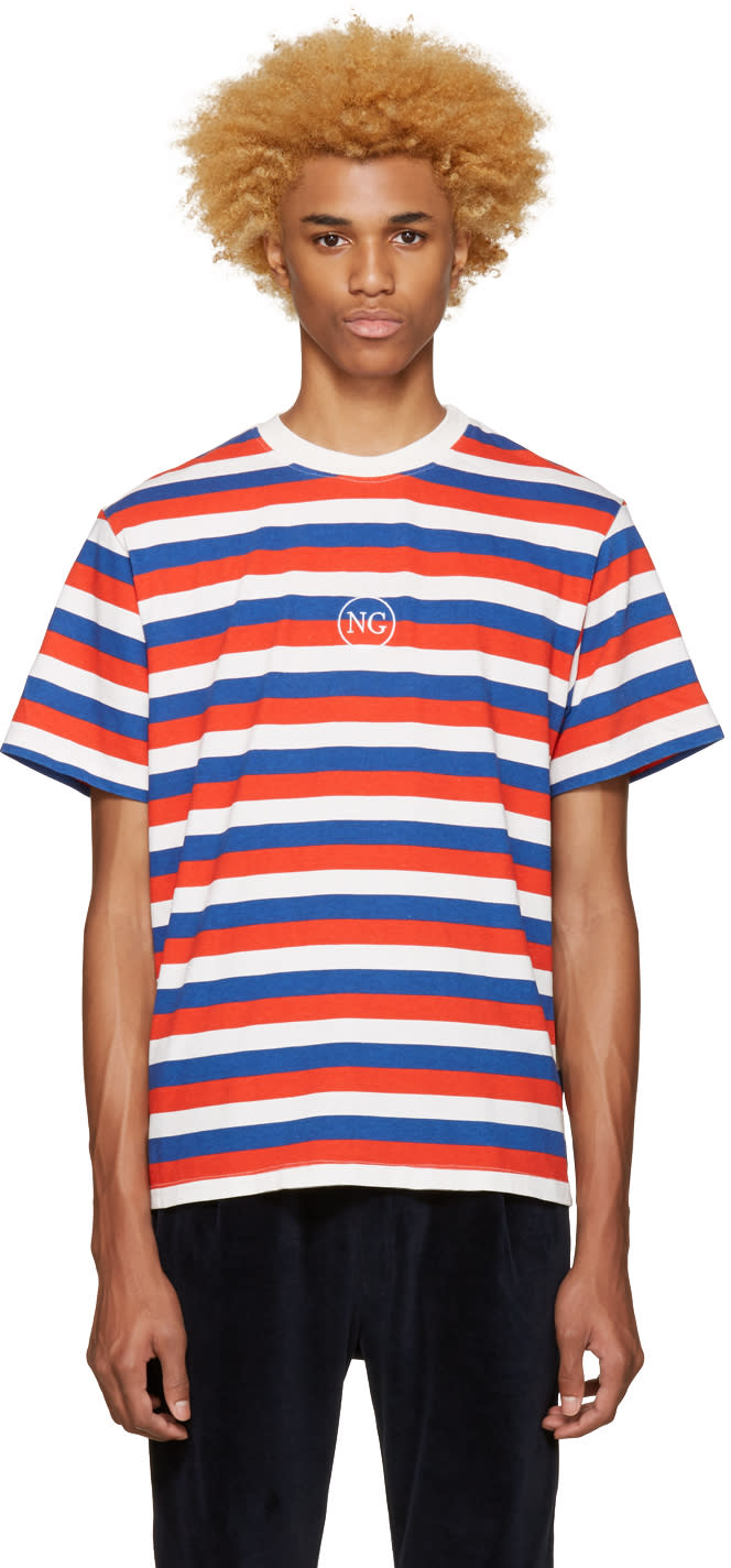 Noon Goons Tricolor Striped Logo T-shirt