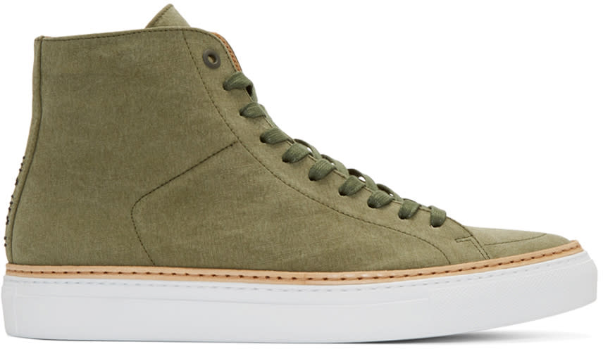 No.288 Green Canvas Mulberry High-top Sneakers