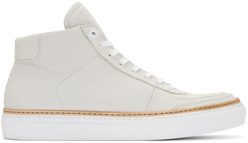 No.288 Off-white Nubuck Howard High-top Sneakers