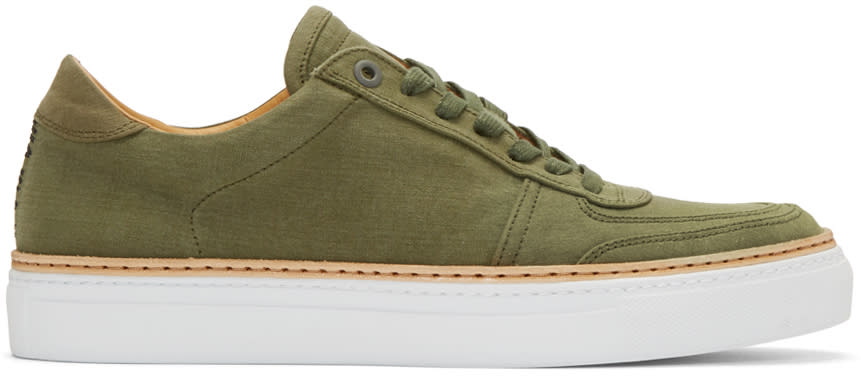 Image of No.288 Green Canvas Grand Sneakers