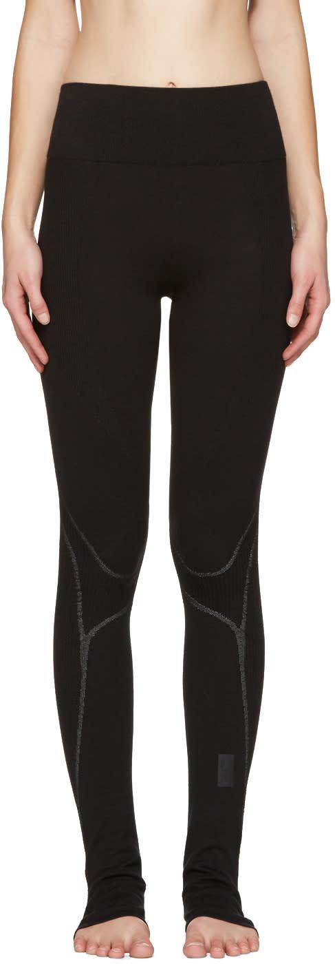 Y-3 Sport Black Fine Knit Leggings