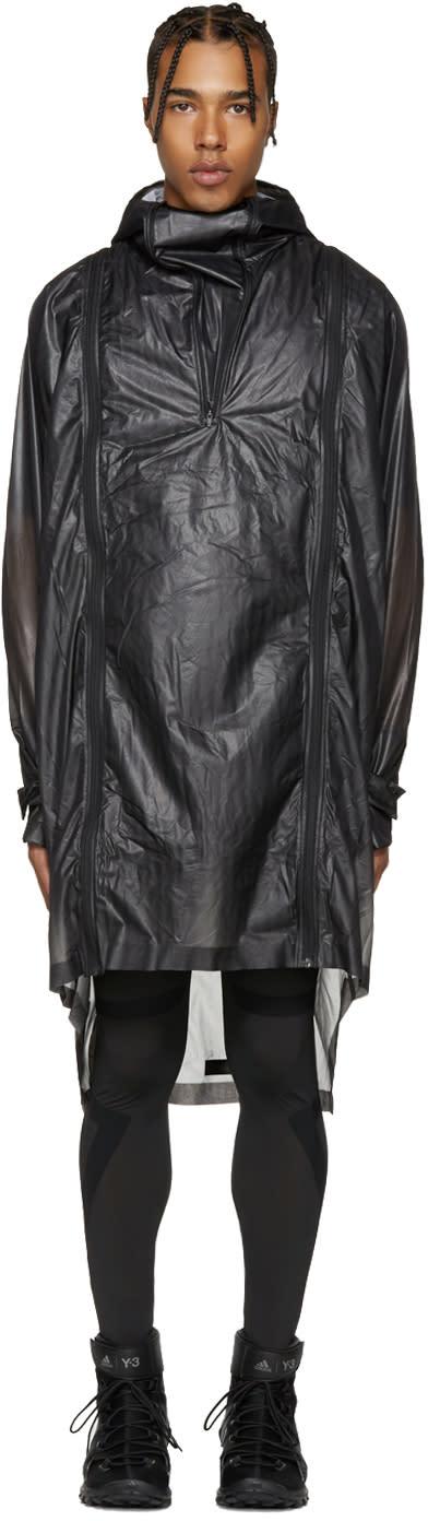 Image of Y-3 Sport Black Lite Poncho Jacket