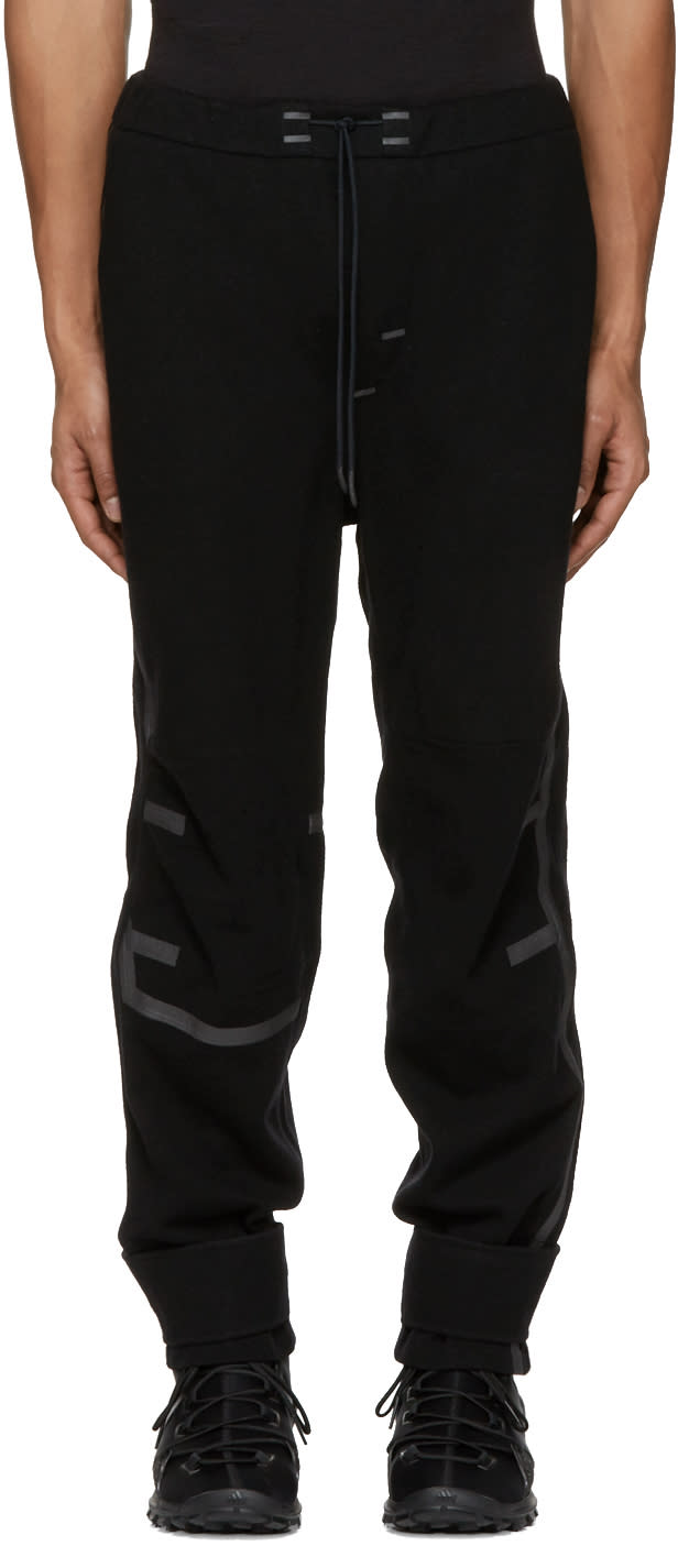 Y-3 Sport Black Wool Lounge Pants