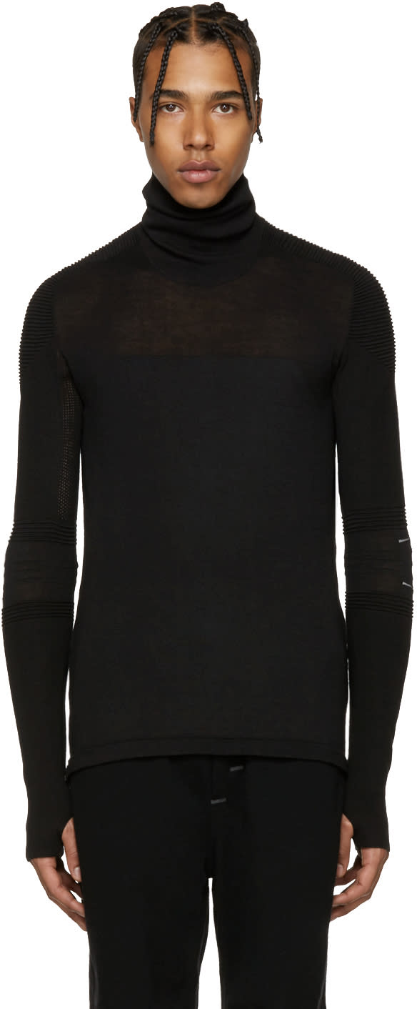 Y-3 Sport Black Tech Knit Turtleneck