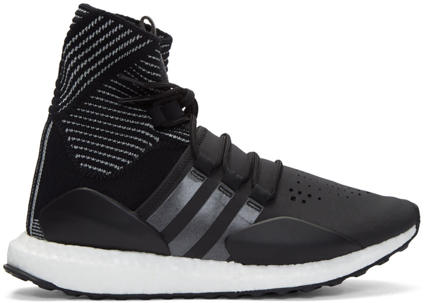 Image of Y-3 Sport Black Approach Reflect High-top Sneakers