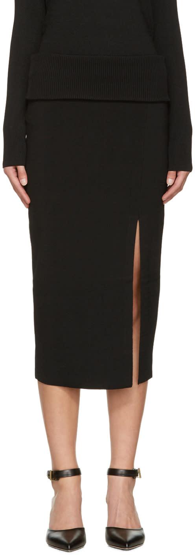 Toteme Black Tripoli Skirt