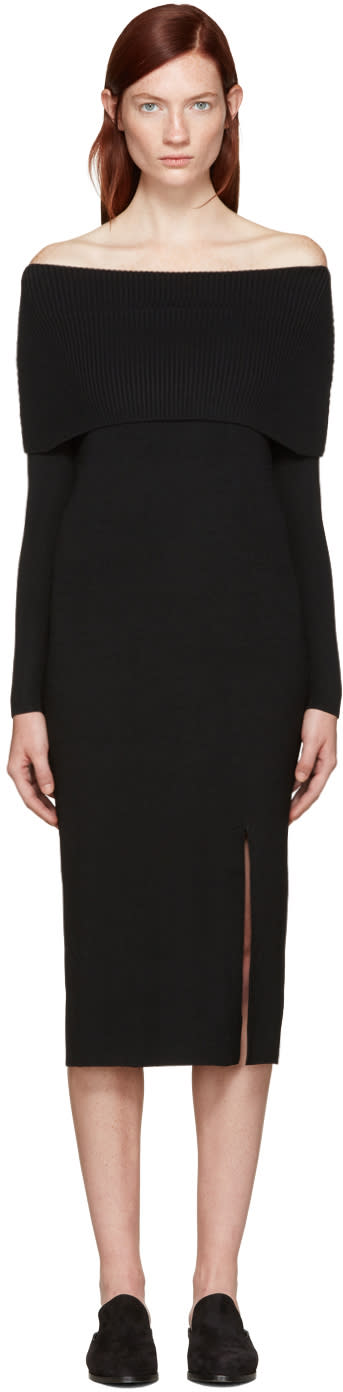 Toteme Black Kosiv Off-the-shoulder Dress