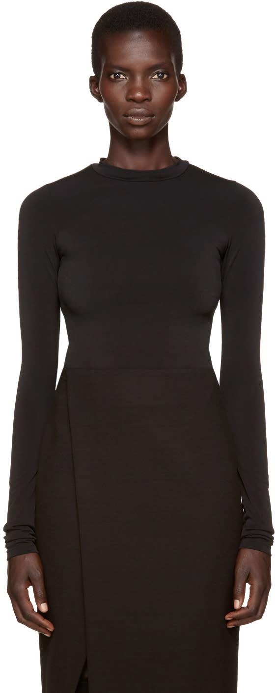 Protagonist Black Extended Sleeve Bodysuit