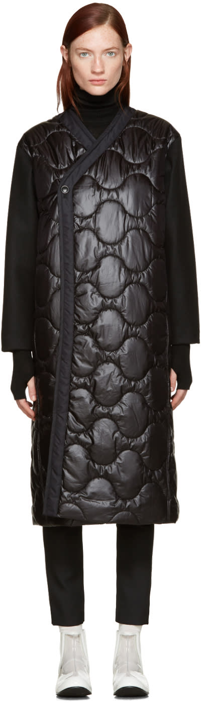 Hyke Black Quilted Nylon Coat