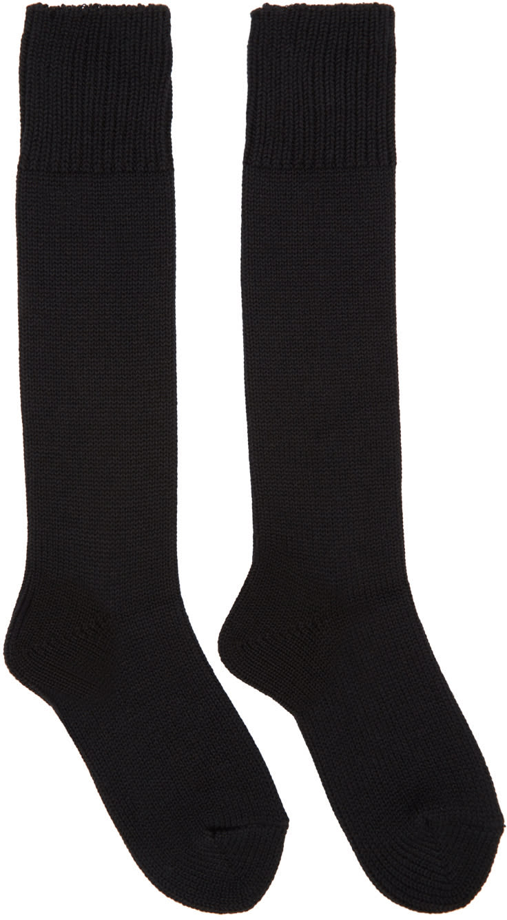 Hyke Black Knit Socks