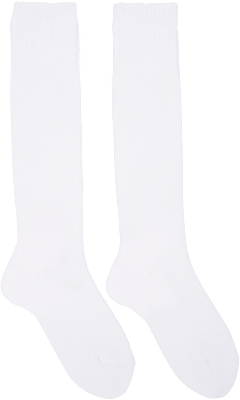 Hyke White Knit Socks