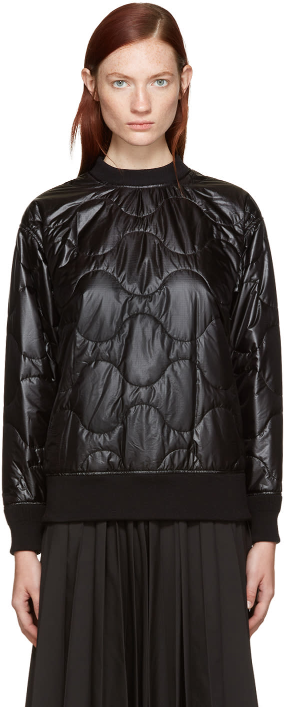 Image of Hyke Black Quilted Nylon Pullover