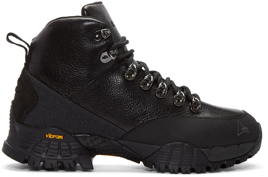 Alyx Black Leather Hiking Boots