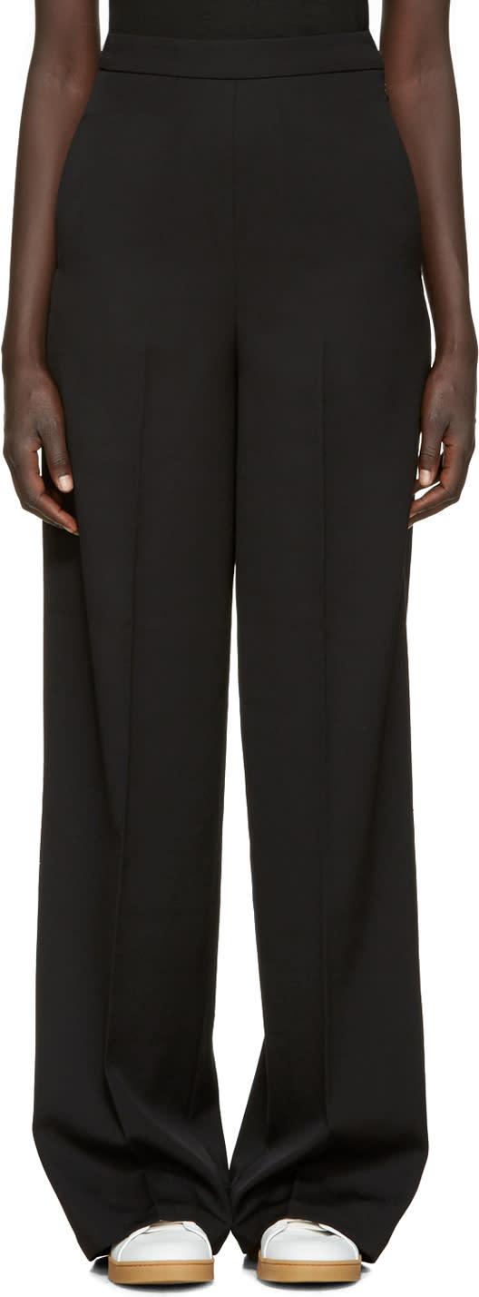 Ports 1961 Black Wool High-rise Trousers