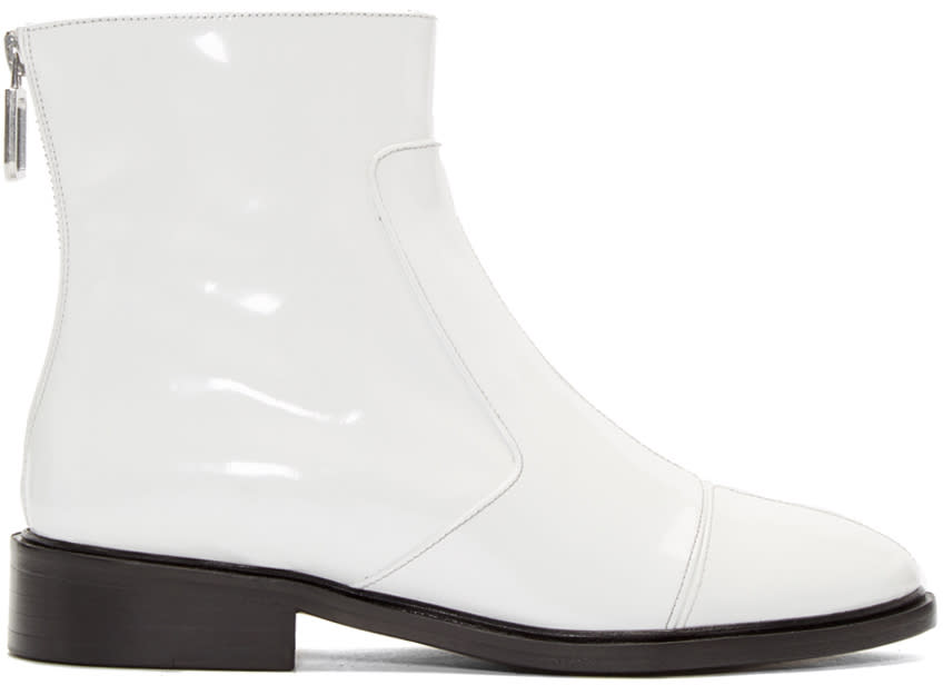 Courreges White Zippered Boots