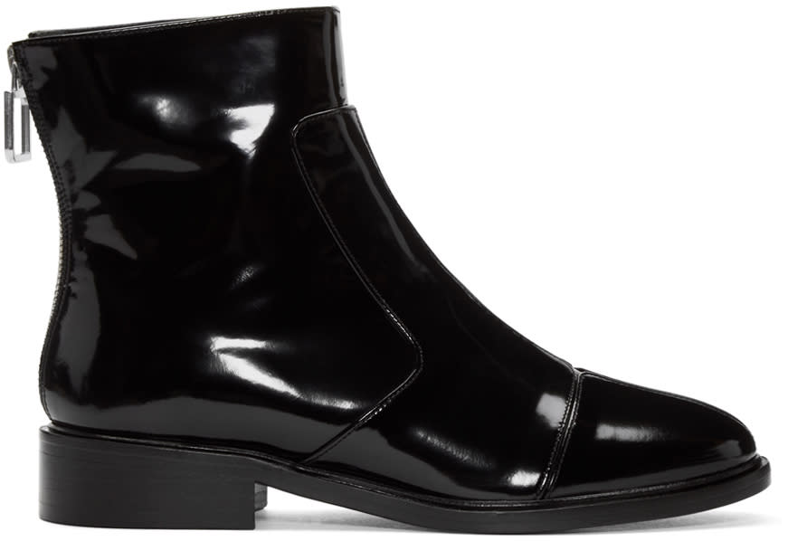 Courreges Black Zippered Boots