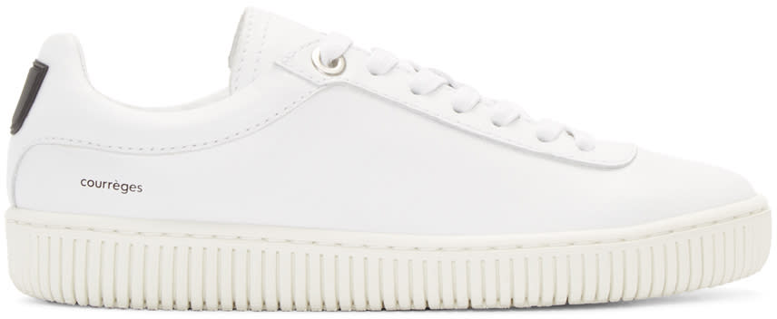 Courreges White Leather Sneakers