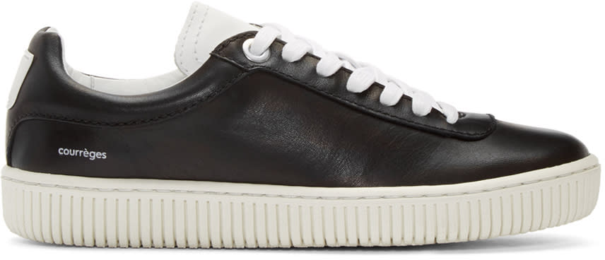 Courreges Black Leather Sneakers