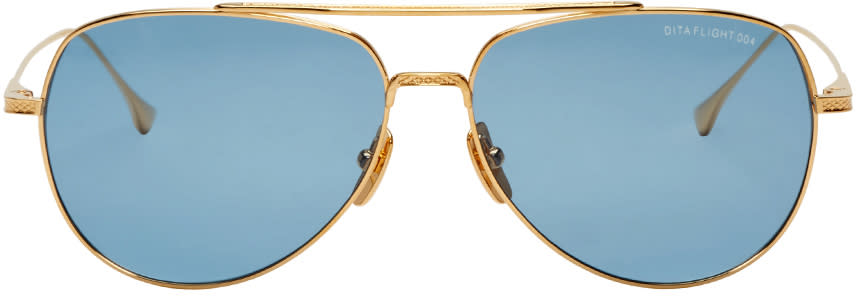 Dita Gold Flight 004 Aviator Sunglasses