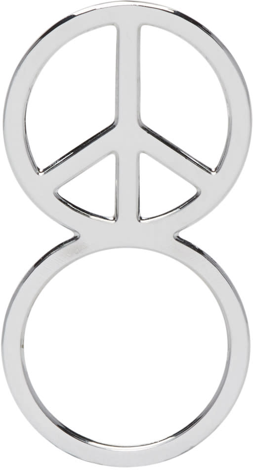 Image of Haal Sliver Peace Sign Ring