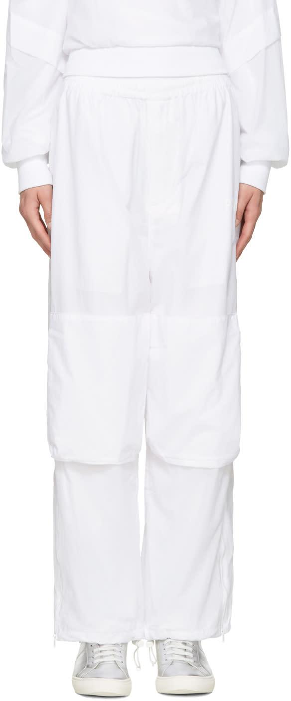 Perks And Mini White Nylon Lounge Pants