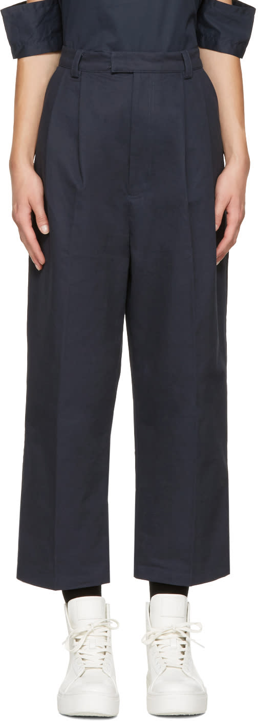 Perks And Mini Navy Tie Up Pike Trousers