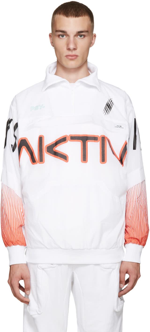 Perks And Mini White Printed Aktiv Jacket