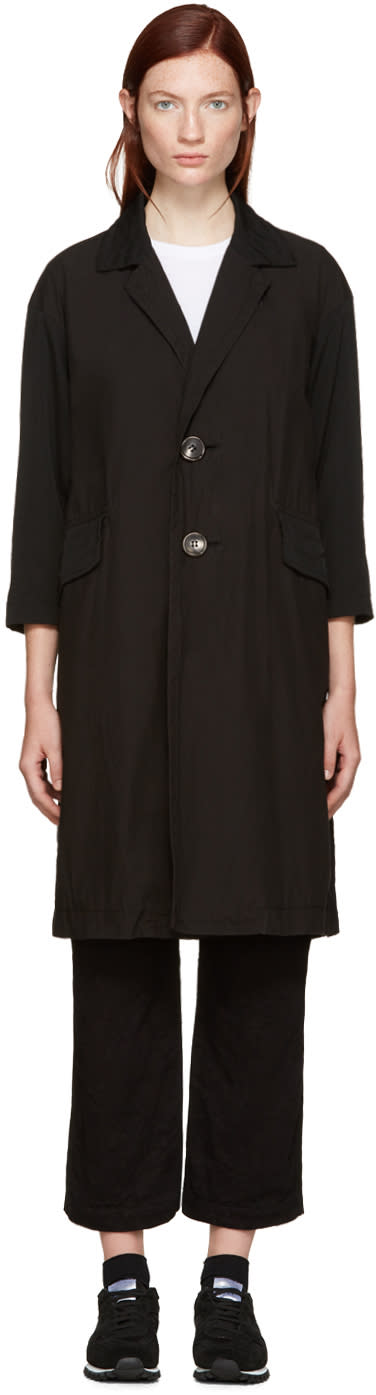 Tricot Comme Des Garcons Black Double-breasted Coat