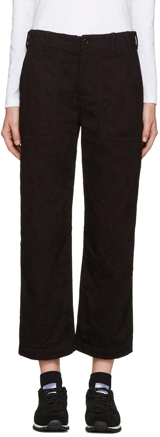 Tricot Comme Des Garcons Black Jacquard Denim Trousers