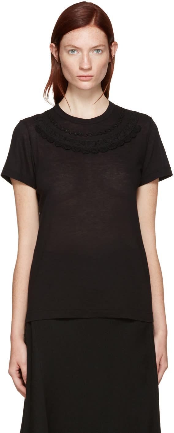 Tricot Comme Des Garcons Black Collar Detail T-shirt