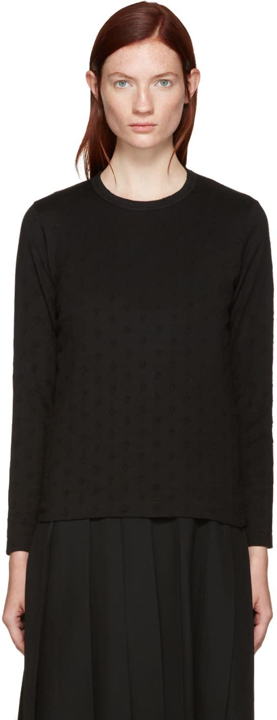 Tricot Comme Des Garcons Black Polka Dot T-shirt