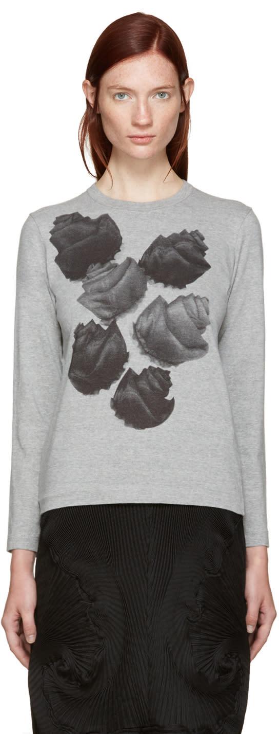 Tricot Comme Des Garcons Grey Flower T-shirt