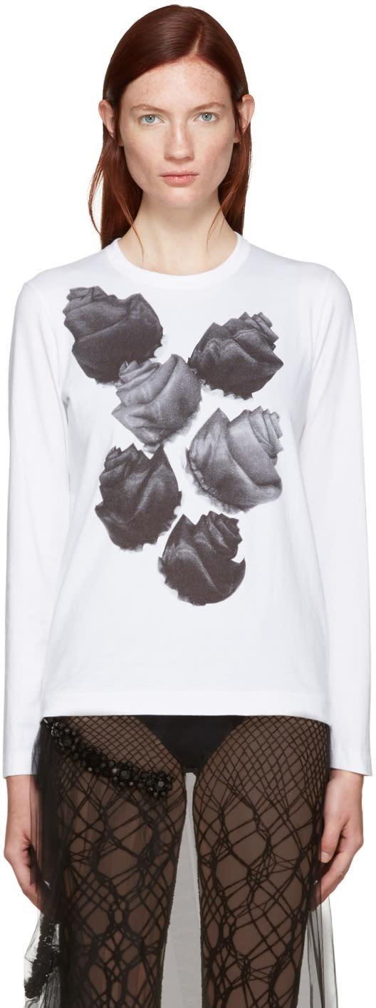 Tricot Comme Des Garcons White Flower T-shirt