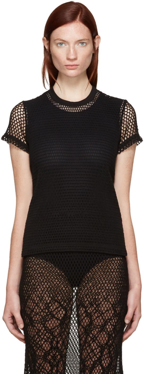 Tricot Comme Des Garcons Black Mesh T-shirt