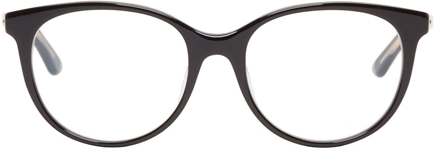 Dior Black Montaigne 16 Optical Glasses at SSENSE