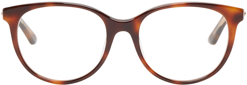 Dior Tortoiseshell Montaigne 16 Optical Glasses at SSENSE