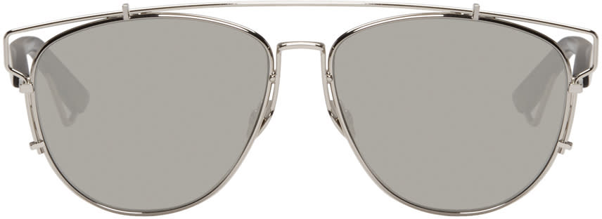 Dior Silver Technologic Sunglasses at SSENSE