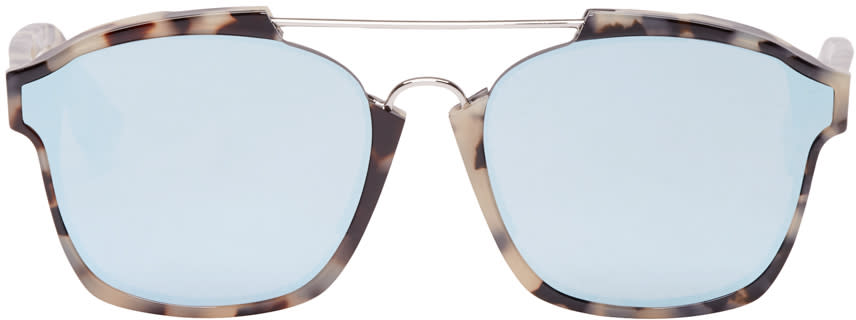 Dior Tortoiseshell Abstract Sunglasses at SSENSE