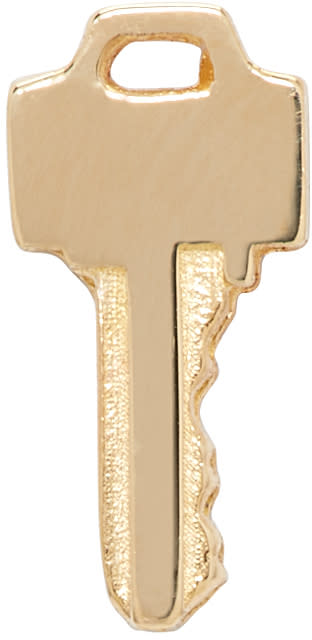 Lauren Klassen Gold Tiny Key Earring