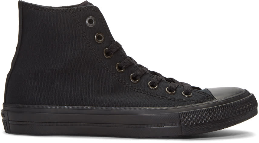 Image of Converse Black Chuck Taylor All Star Ii High-top Sneakers